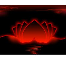 Red Love Lotus Photographic Print