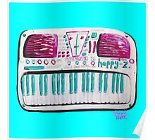 Happy-Z Retro Synth 'Please Now Fun' Poster