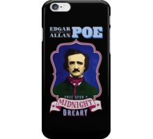 Edgar Allan Poe Portrait with Raven Quote iPhone Case/Skin
