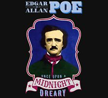 Edgar Allan Poe Portrait with Raven Quote Unisex T-Shirt