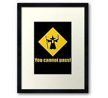 Gandalf You Cannot Pass Framed Print