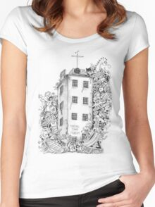 Timeball Tower Invasion Women's Fitted Scoop T-Shirt
