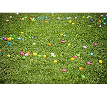 Happy Easter! Bunny just have been here! Photographic Print