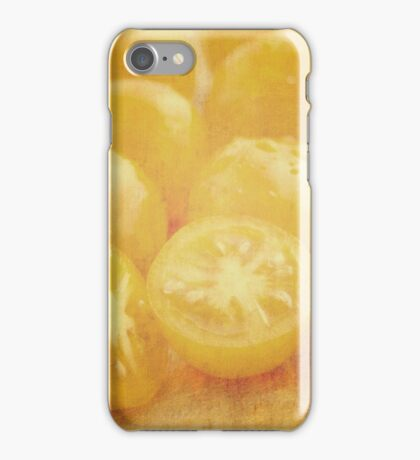 Still life of yellow plum tomatoes iPhone Case/Skin