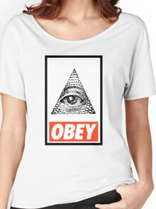 Obey the Illuminati Women's Relaxed Fit T-Shirt