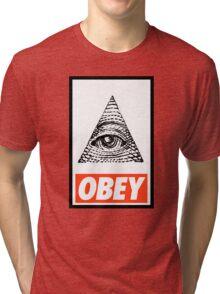 Obey the Illuminati Tri-blend T-Shirt