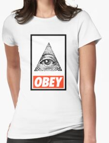Obey the Illuminati Womens Fitted T-Shirt