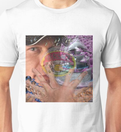 vaporwave with unnamed large man in hat Unisex T-Shirt