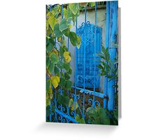 Secret Garden in Blue Greeting Card