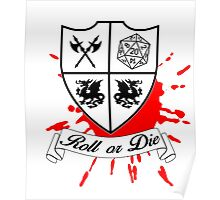 Roll or Die (white) Poster