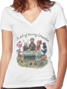 The art of ruining conversation at parties Women's Fitted V-Neck T-Shirt