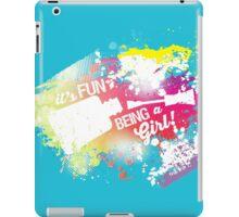 Fun girl manicure finger nail polish grunge rainbow iPad Case/Skin