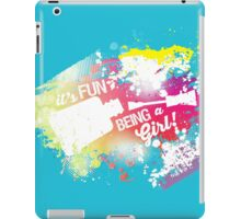 Fun girl manicure finger nail polish grunge rainbow iPad Case/Skin