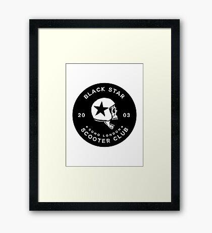 BLACK STAR SCOTER CLUB - [STICKER VERSION] Framed Print
