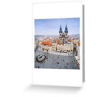 Old Town Square, Prague, Czech Republic Greeting Card