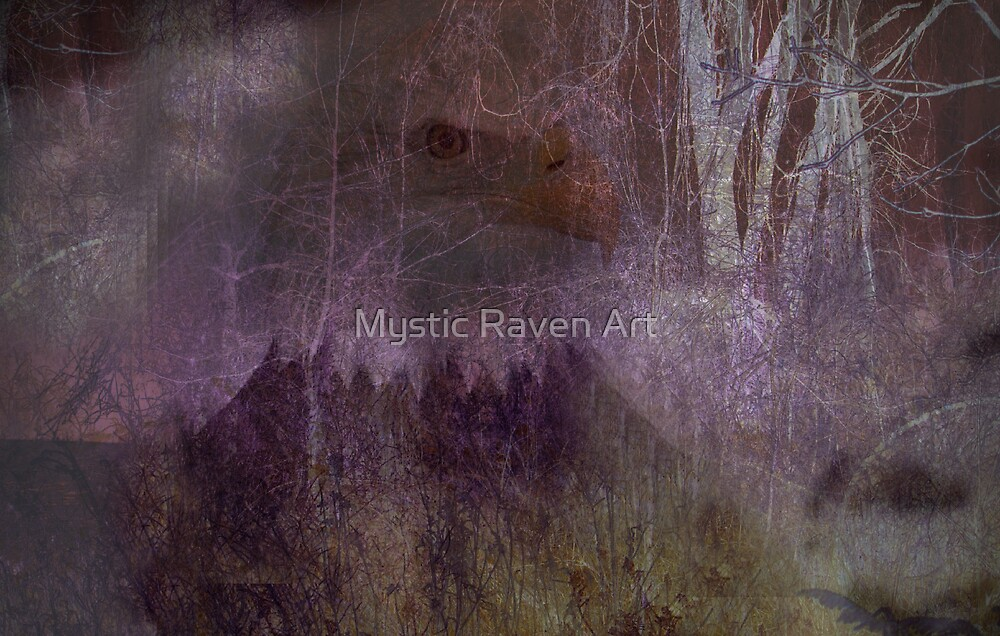 Great Spirit Eagle..Who Carries Our Prayers to the Sky by Mystic Raven Art