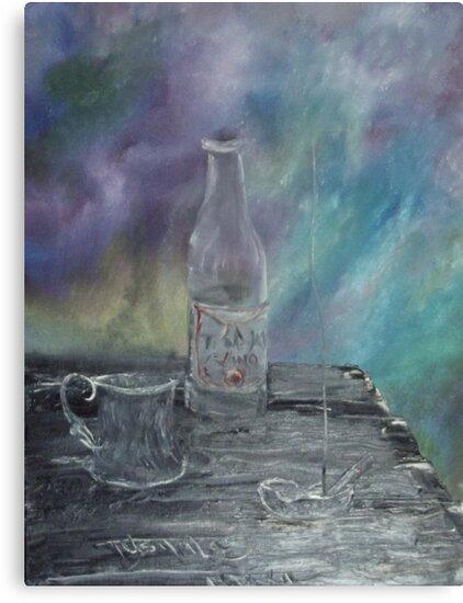 Still Life - Wine, goblet, smoke by tusitalo