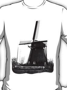 WindMill in Holland - B&W T-Shirt