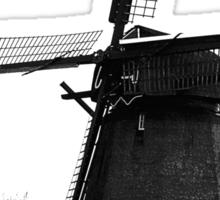 WindMill in Holland - B&W Sticker