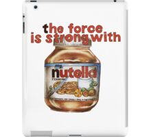 The force is strong with nutella iPad Case/Skin