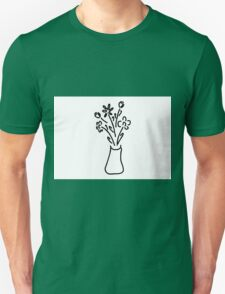bouquet in vase with roses tulips Unisex T-Shirt