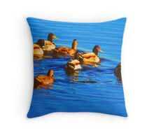 Early Morning Swim. Throw Pillow