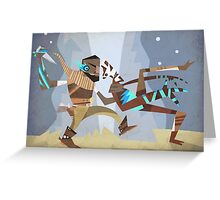 In the Face! Greeting Card