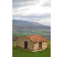 Hut in Tuscany  Photographic Print