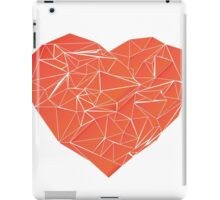 low poly hearth iPad Case/Skin