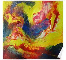 """Escapism"" original abstract artwork Poster"