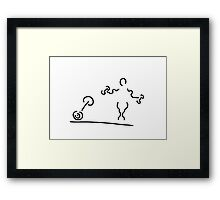 bodybuilders exercise with dumb-bells bodybuilding Framed Print