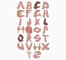 Alphabet with Hands Kids Clothes