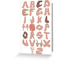 Alphabet with Hands Greeting Card