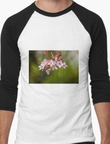 Pink Apple Blossom Men's Baseball ¾ T-Shirt