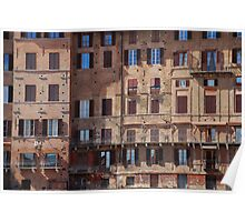 Buildings in Siena Poster