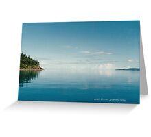 Coral Sea Glass Whitsunday Passage © Vicki Ferrari Greeting Card