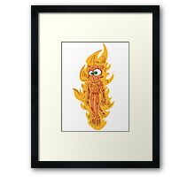 cat torch II Framed Print