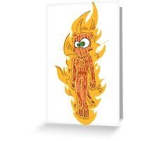 cat torch II Greeting Card