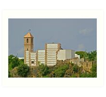 Casares, Andalucia - New Bell Tower and Church Art Print