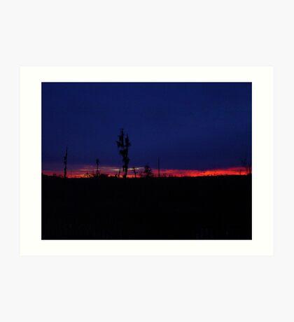 Sunset with a Stripe Art Print