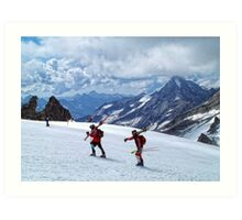 Let's Go Skiing Art Print