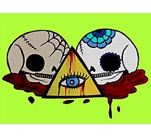 All Seeing Skulls Photographic Print