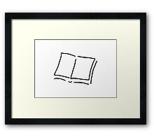 book with sides hard cover Framed Print