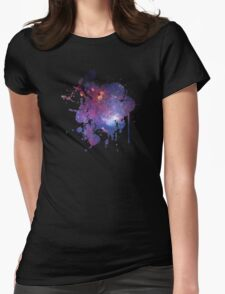 Space Splatter Two (Black) Womens Fitted T-Shirt