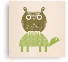 owl and turtle Canvas Print