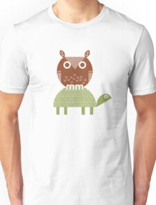 owl and turtle Unisex T-Shirt