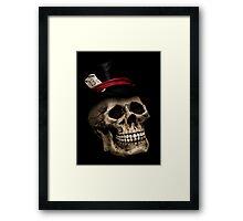 Top Hat Skull Framed Print