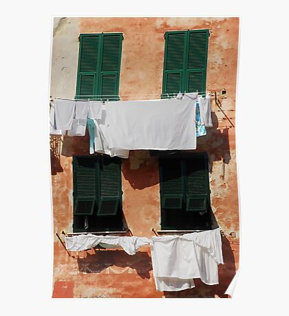 Washing, Vernazza Poster