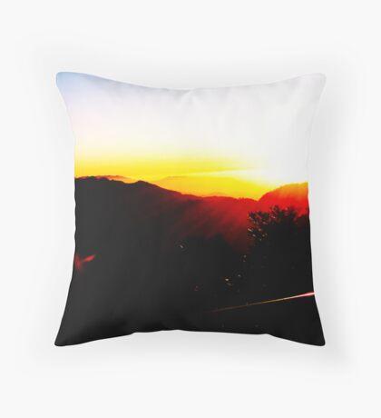 Sunset Blast Throw Pillow