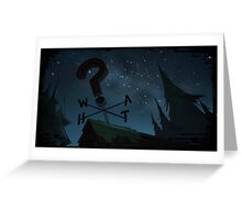 Gravity Falls- Starry Night Sky Greeting Card